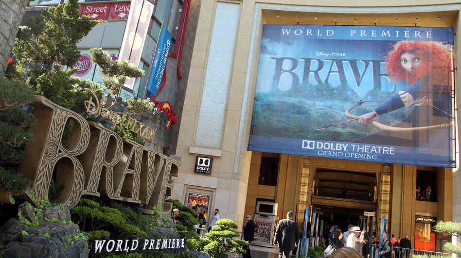 Pixar's Brave premiered in Los Angeles on June 18. Brave producer Katherine Sarafian says Pixar experimented with making the protagonist a blacksmith's daughter and then a milkmaid before they settled on a princess.