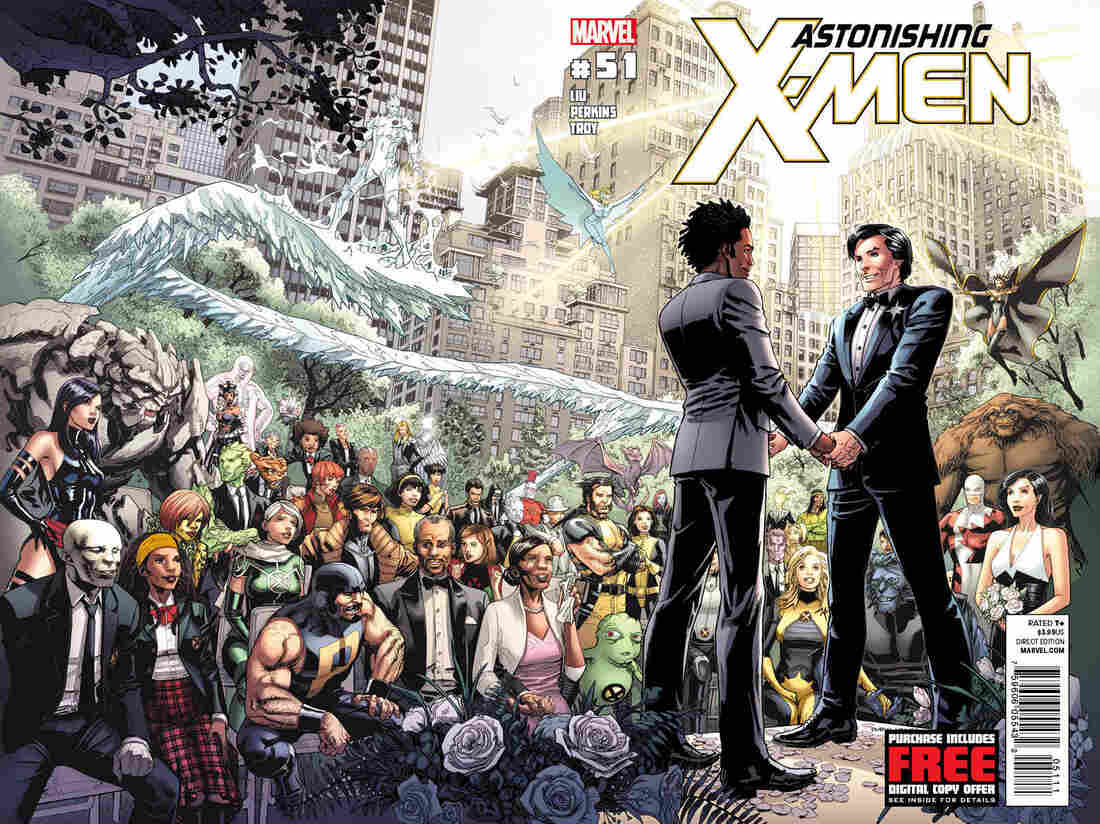 """The cover art for """"Astonishing X-Men #51."""""""