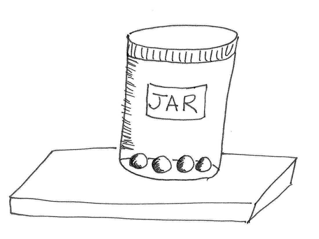 Balls in a jar.
