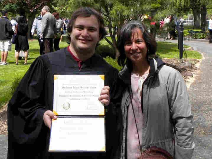 Jackson Cahn, who graduated from Whitman College in Walla Walla, Wash., is one of the 3 million young adults the Obama administration says would have risked going without insurance if the health care law hadn't allowed them to stay on their parents' policies. Because of the law, his mother, June Blender, was able to add him to her insurance.