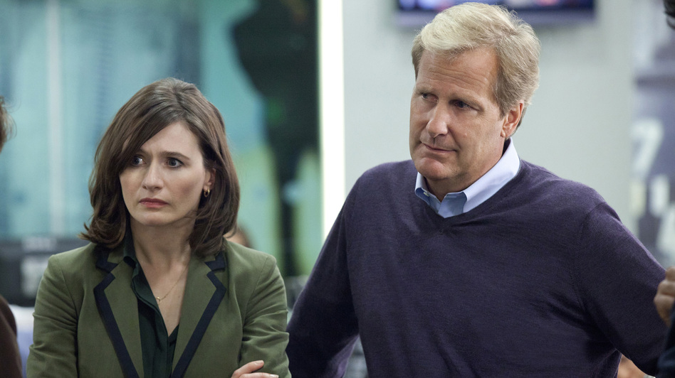 In Aaron Sorkin's new HBO drama, The Newsroom, producer MacKenzie McHale (Emily Mortimer) and anchorman Will McAvoy (Jeff Daniels) tackle real hard-hitting news stories and call out those who don't tell the truth. (HBO)