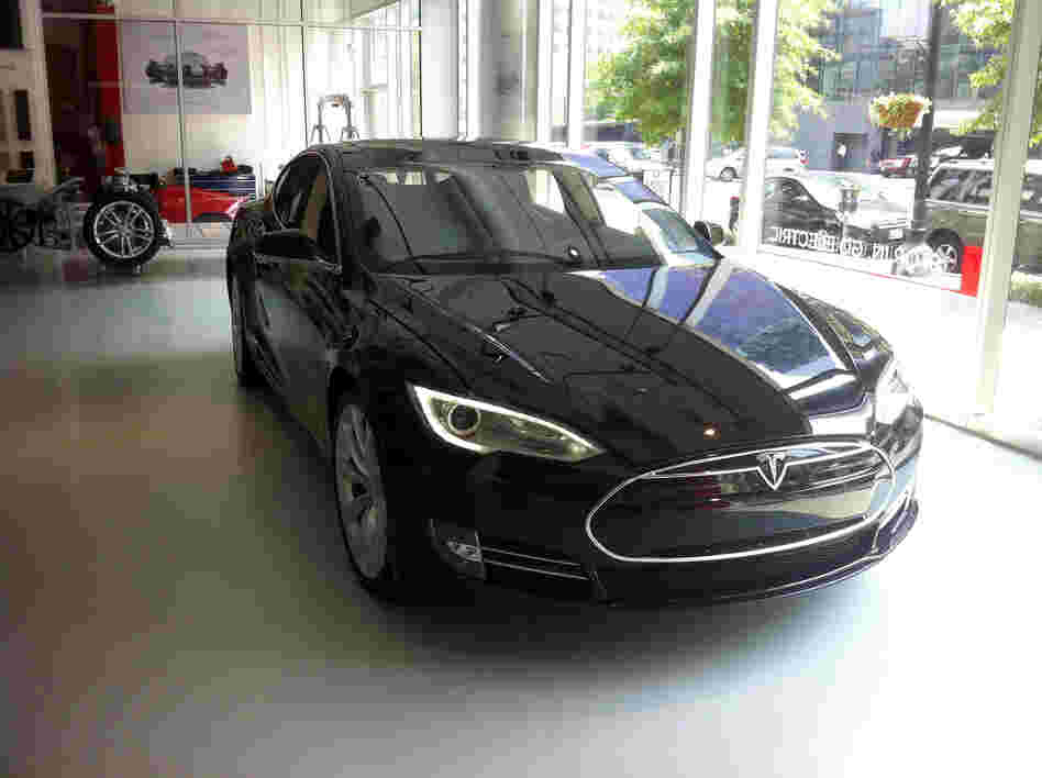 The EPA gives the Tesla Model S a range of about 265 miles on a full charge.
