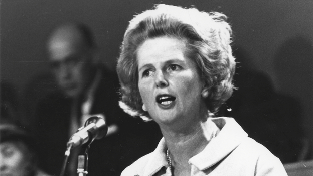 Margaret Thatcher became Britain's first female prime minister in 1979 and served until 1990. In 1992, she was elevated to the House of Lords to become Baroness Thatcher of Kesteven. Thatcher died Monday at age 87 following a stroke, her spokesman said. (Express/Getty Images)