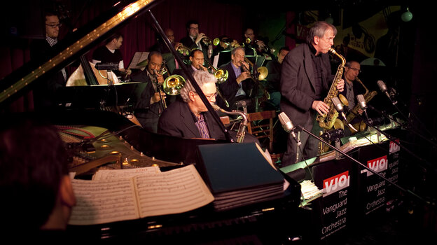 With 46 years under its belt, the Vanguard Jazz Orchestra plays the music of Bob Brookmeyer and Thad Jones at the Village Vanguard.