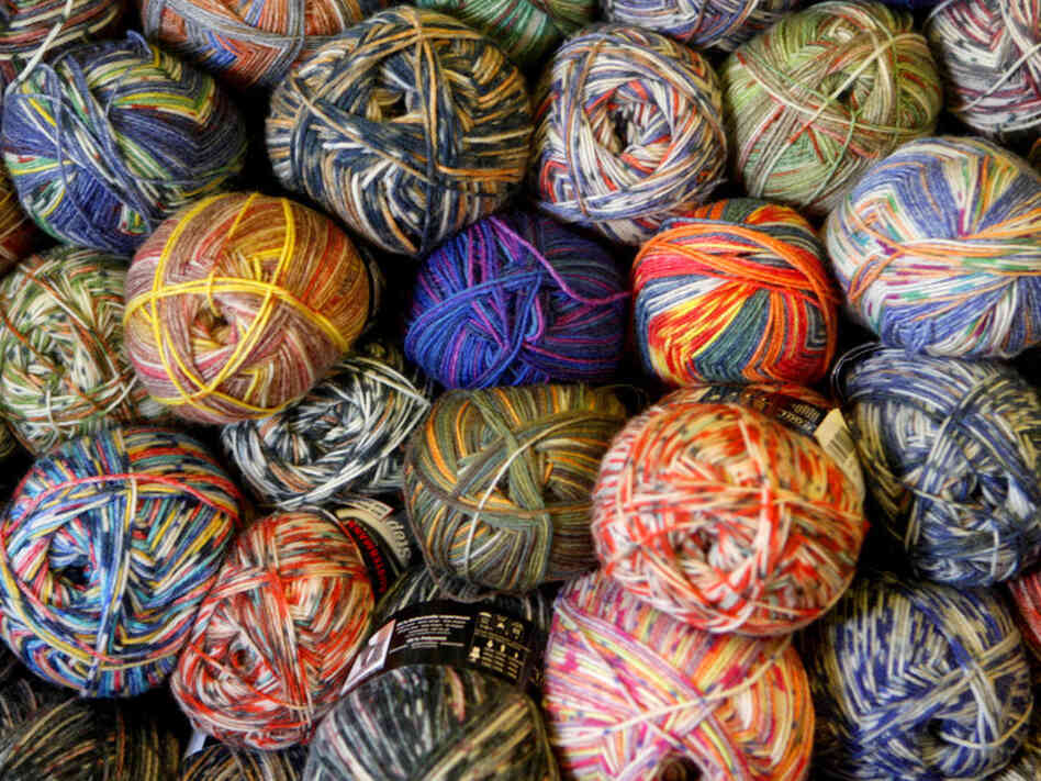 Note to the USOC: Those are balls of yarn, not puts.