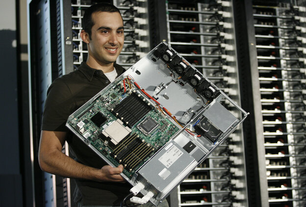 Your life is in there, somewhere: Facebook's Amir Michael introduces a new, more efficient server design during a 2011 media event at the company's headquarters in Palo Alto, California.