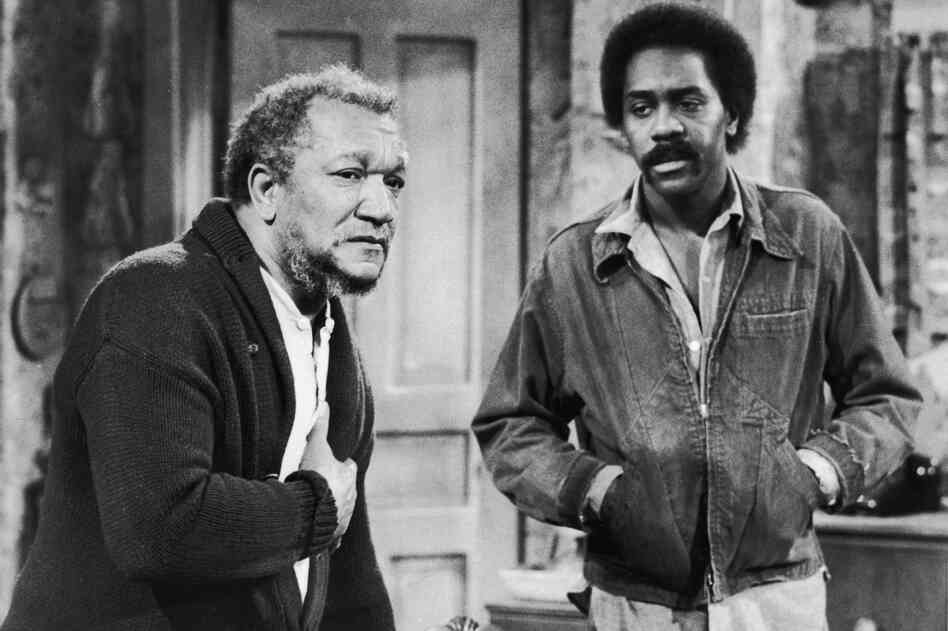 Redd Foxx (left) and Demond Wilson played the titular father-son duo in the TV show Sanford and Son, a Lear production that ran from 1972 to 1977.