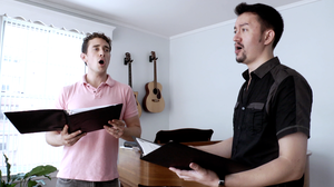 The vocal ensemble New York Polyphony sings Renaissance music in the home of its bass, Craig Phillips.