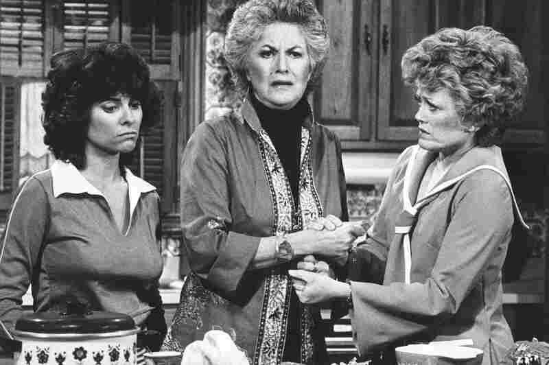 Bea Arthur (center) starred with Adrienne Barbeau (left) and Rue McClanahan in the socially controversial '70s TV show Maude, a spin-off of All in the Family that Lear also created, developed and produced.