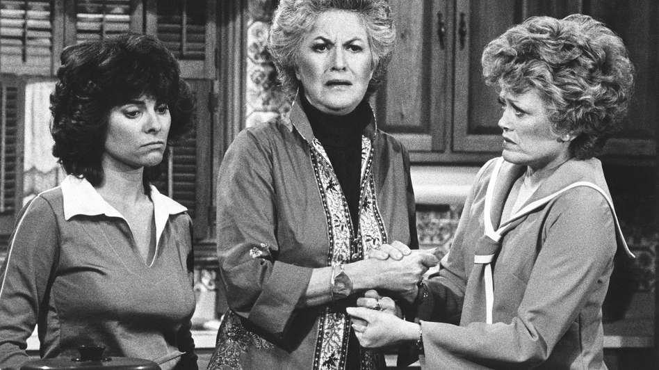 Bea Arthur (center) starred with Adrienne Barbeau (left) and Rue McClanahan in the socially controversial '70s TV show Maude, a spin-off of All in the Family that Lear also created, developed and produced. (AP)
