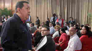 Venezuelan President Hugo Chavez, seen speaking during a TV program in Caracas on June 15, will compete with former opposition governor Henrique Capriles and other candidates in October's presidential elections.