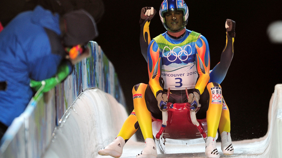 Christian Niccum and Dan Joye at the 2010 Winter Olympics in Whistler, Canada. (Getty Images)