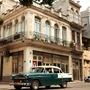 A vintage car on the streets of Cuba.