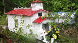 A spirit house in the Eklutna Cemetery in Alaska.