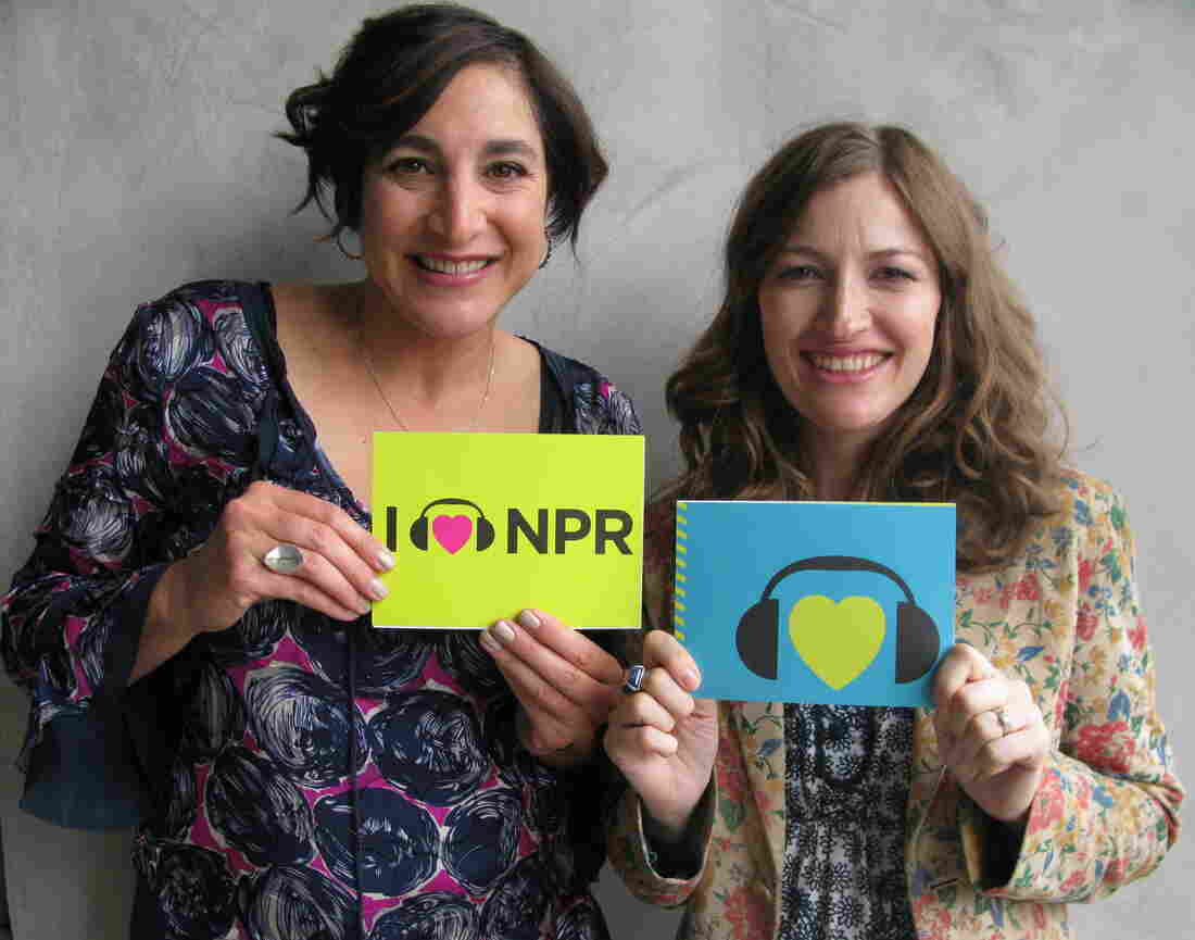 Katherine Sarafian and Kelly Macdonald at NPR West.