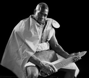 Terrence Williams plays a Roman soldier in The Life Of Jesus Christ, a play at the Louisiana State Penitentiary at Angola.