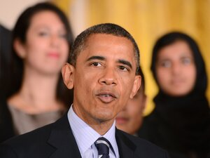 President Barack Obama speaks in the East Room of the White House on June 21, 2012 to call on Congress to stop interest rates on student loans from doubling on July 1. Polls show that although only a plurality of citizens support the President's health care reforms, a clear majority do not want to return to the original system.