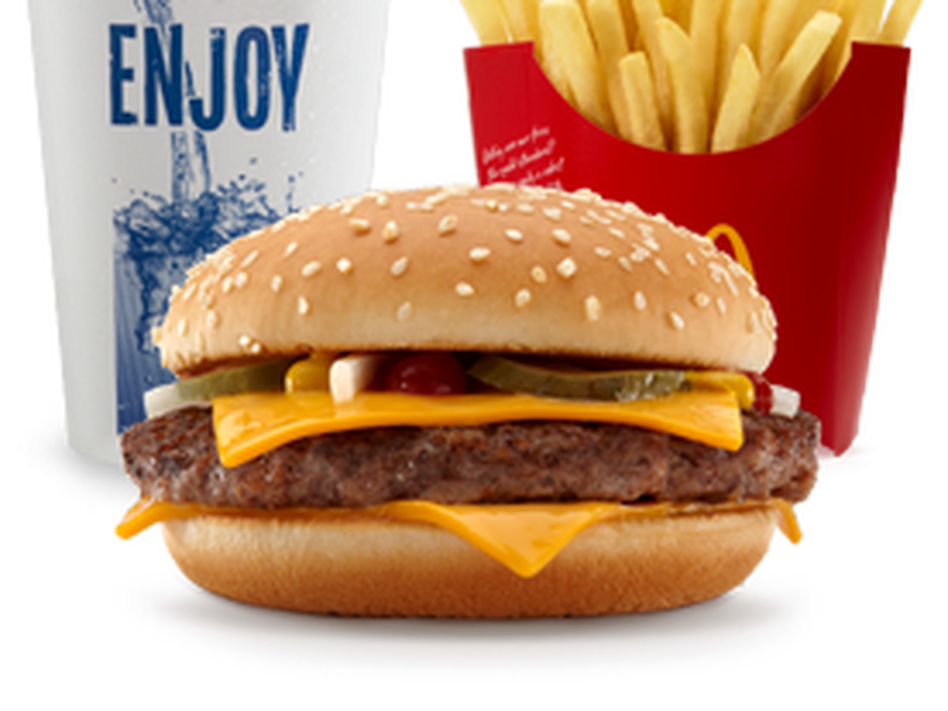 The picture perfect Quarter Pounder with Cheese (McDonald's)