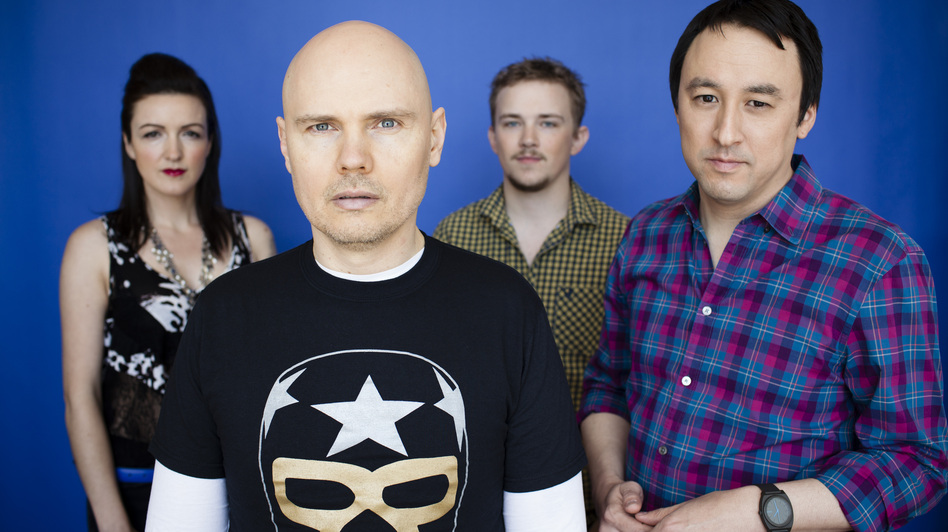 The Smashing Pumpkins in 2012 (from left): Nicole Fiorentino, Billy Corgan, Mike Byrne and Jeff Schroeder. (Courtesy of the artist)