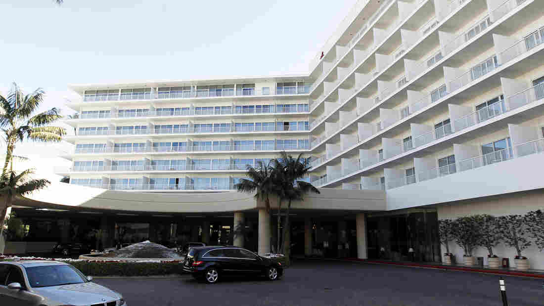 The Beverly Hilton Hotel in Beverly Hills, Calif.