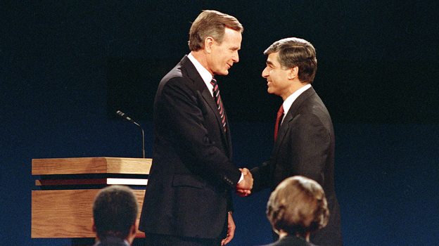The 1988 presidential race between George H.W. Bush and Michael Dukakis is often considered one of the most negative elections in the modern era. (AP)