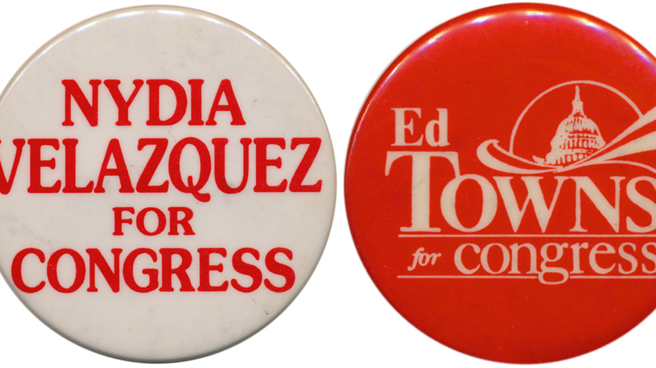 Velazquez faces a competitive challenge in Tuesday's primary; the battle to succeed Towns has ugly overtones. (Ken Rudin collection)