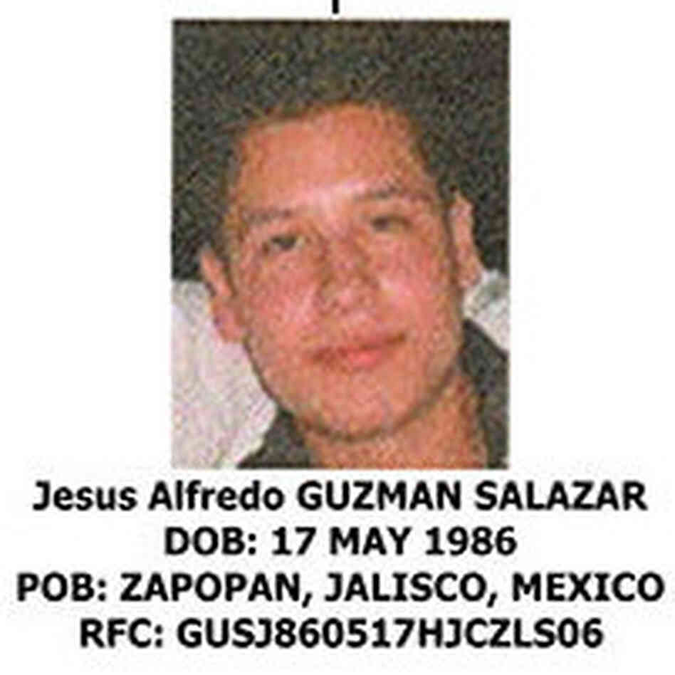 "Jesus Alfredo Guzman Salazar is the 26-year-old son of Mexico's most-wanted drug kingpin, Joaquin ""El Chapo"" Guzman, leader of the Sinaloa cartel."