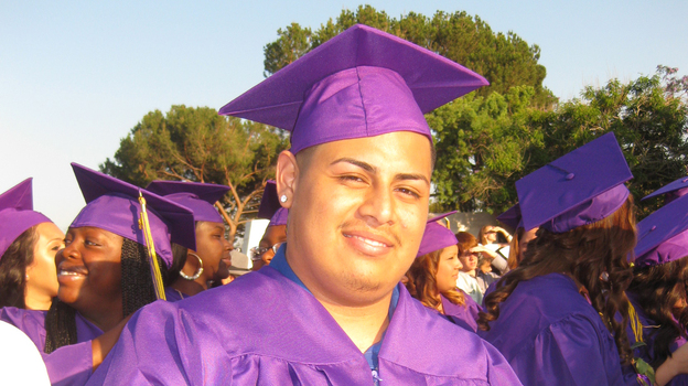 Anthony Gonzales graduated on Tuesday from Learning Works charter school in Pasadena, Calif. (Learning Works)