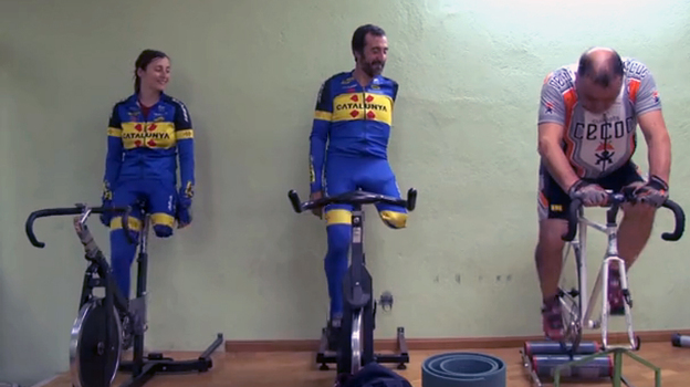 Paralympic cyclists are featured in the upcoming documentary Unstoppables. (black train films)