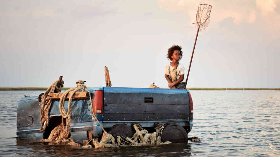 Quvenzhane Wallis, who was 6 at the time of production, plays Hushpuppy in Beasts of the Southern Wild, a fantastical tale about self-reliance and community after a storm in Louisiana.