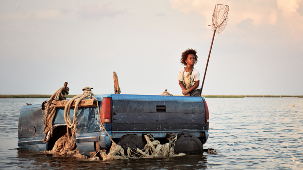 Quvenzhane Wallis, who was 6 at the time of production, plays Hushpuppy in Beasts of the Southern Wild, a fantastical tale about self-reliance and community after a storm in Louisiana. (Fox Searchlight Pictures)