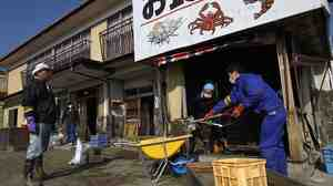 Markets in the port city of Soma, in Fukushima, Japan, are once again selling local seafood. In this file photo, vo