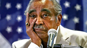 Rep. Charles Rangel listens during a news conference in August 2010 at his Harlem office in New York.