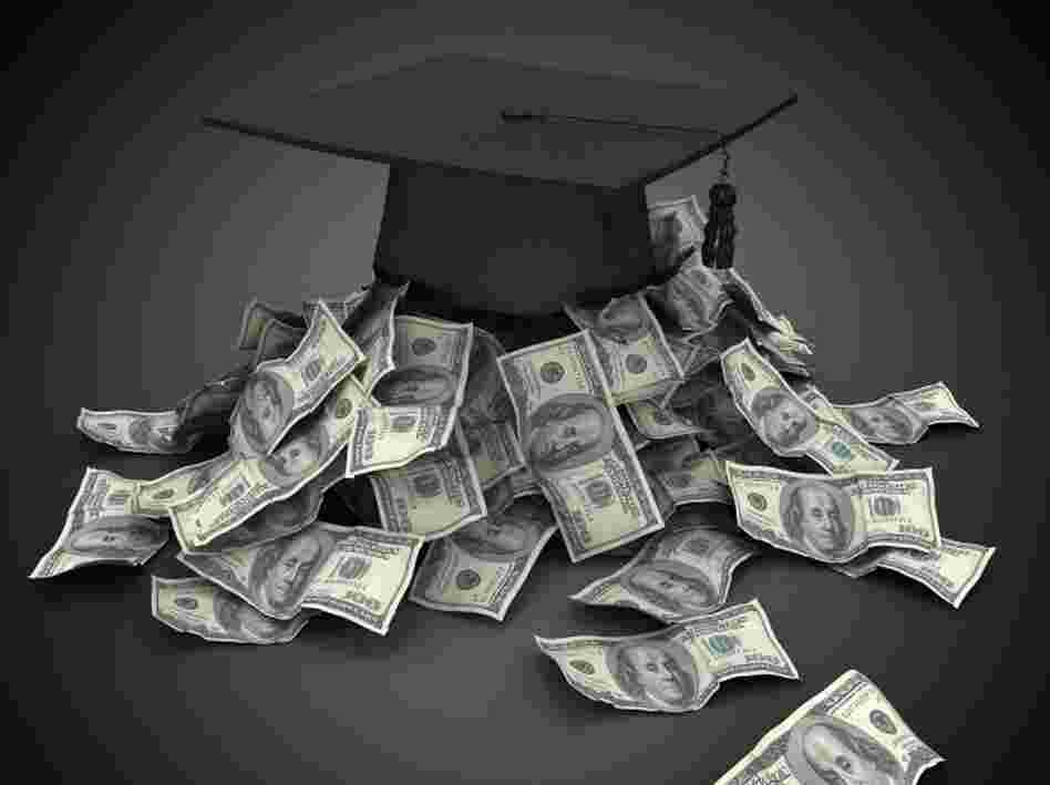 Graduation cap with cash
