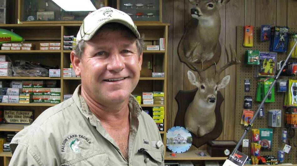 James Bendele runs the Falcon Lake Tackle Shop in Zapata, Texas. Bass fishermen flock to the lake, despite the presence of a Mexican drug cartel. (Wade Goodwyn)