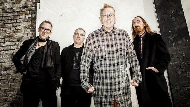 John Lydon (center right) of Public Image Ltd.
