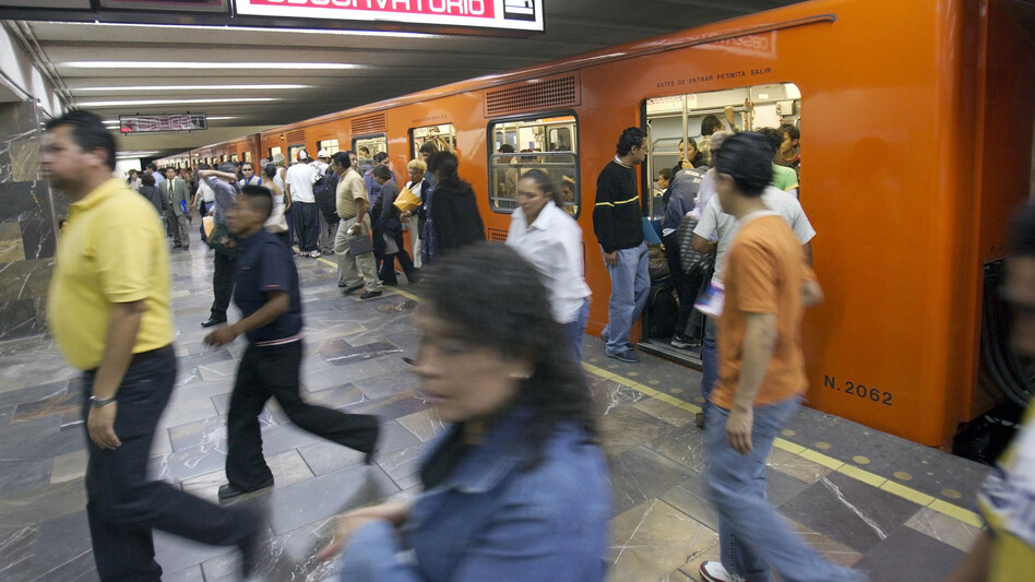 "Taibo's self-proclaimed ""street"" detective doesn't own a car. He gets around on Mexico City's packed, inexpensive subway. ""His only way to survive was to accept the chaos and become one with it,"" Taibo writes. (AP)"