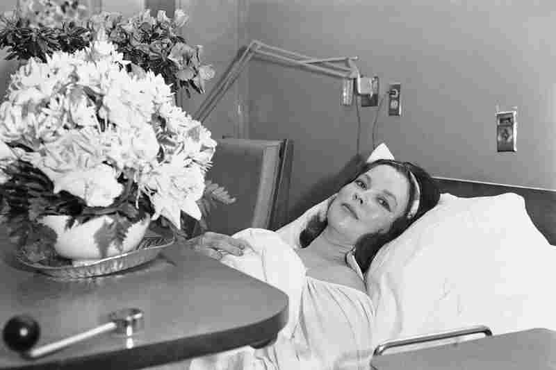 Temple in her room at Stanford University Medical Center in Palo Alto, Calif., after she underwent surgery for breast cancer in 1972.