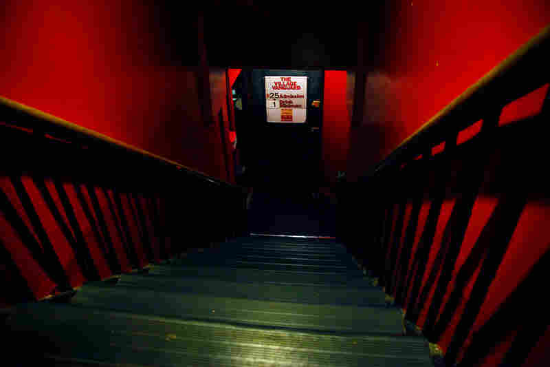If you wish to enter this sacred jazz site, your rite of passage will be to navigate the perilously steep red stairwell. Suggestion: Use the handrails.