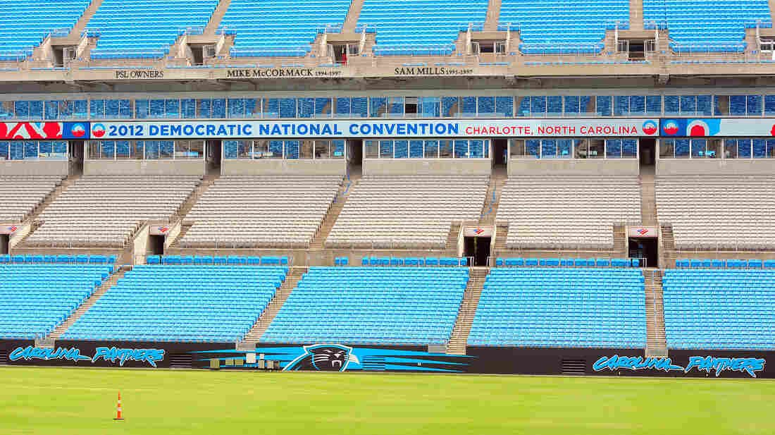 Bank of America stadium in Charlotte, N.C., where President Obama will accept his party's nomination on Sept. 6.