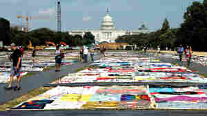 Pieces Of AIDS Quilt Blanket Nation's Capital