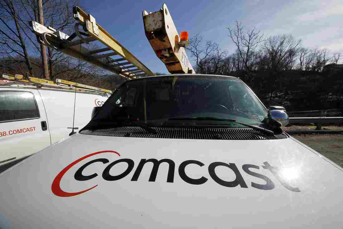 A Comcast logo is seen on a Comcast truck in Pittsburgh in 2011.