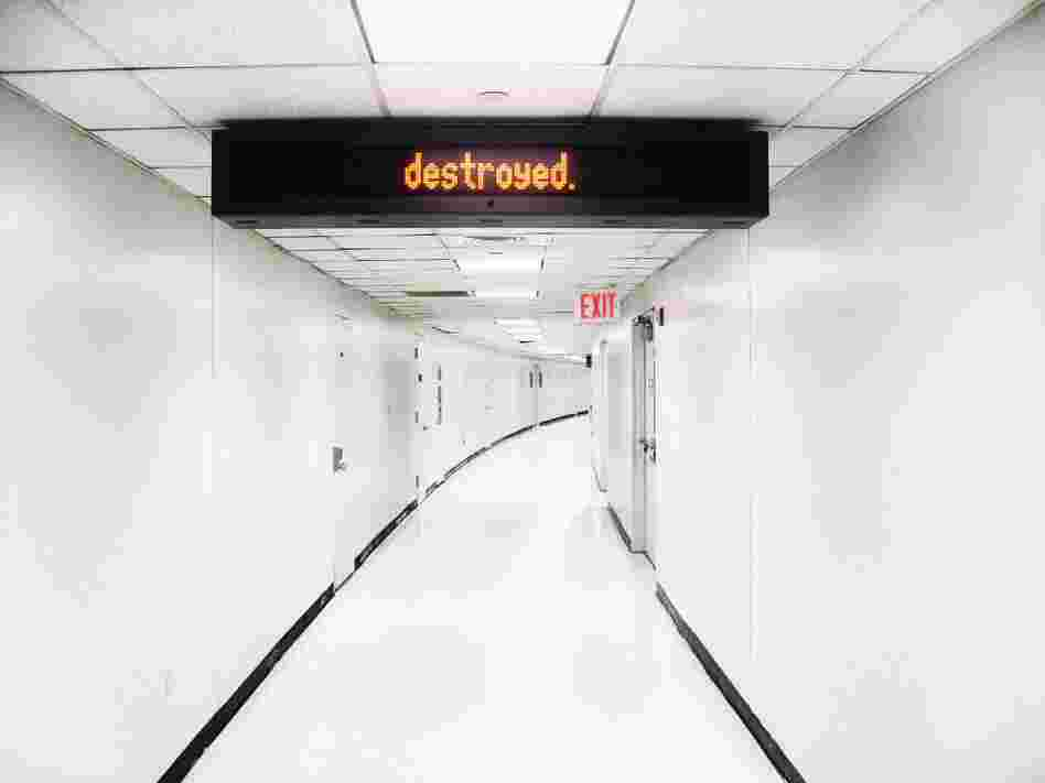 "New York: ""There was this little sign in this weird hallway. It said, 'unattended luggage will be destroyed,' but one word at a time."""