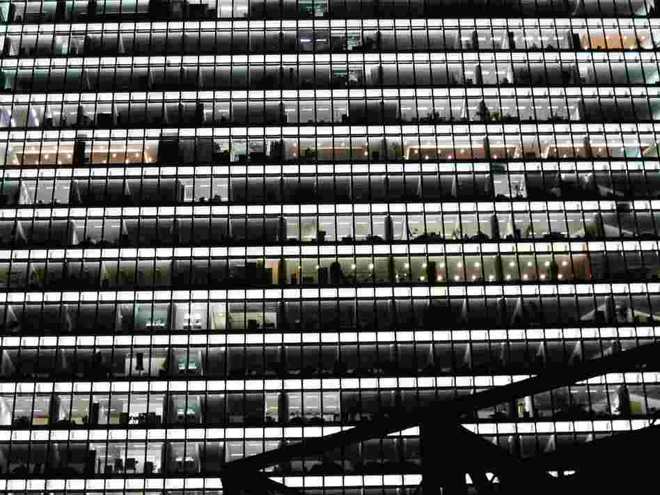 "Berlin: ""There's something really comforting to me about office buildings at 4 a.m., when the lights have been left on for the cleaning crew."""