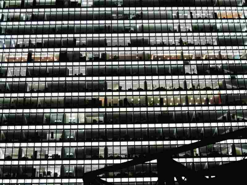 """Berlin: """"There's something really comforting to me about office buildings at 4 a.m., when the lights have been left on for the cleaning crew."""""""