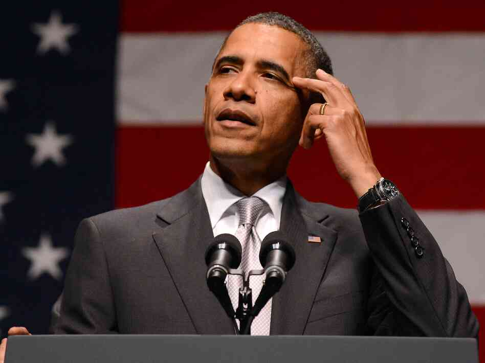President Barack Obama speaks at Obama Victory Fund concert in Miami, Florida, on June 26. Both Obama's political and policy goals hang in the balance this week, with the Supreme Court set to rule on his trademark health care bill tomorrow.