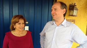 The Florida Democratic Party's head of Hispanic outreach, Betsy Franceschini, and Scott Randolph, the chairman of the Orange County Democrats, are working to help President Obama carry the state.