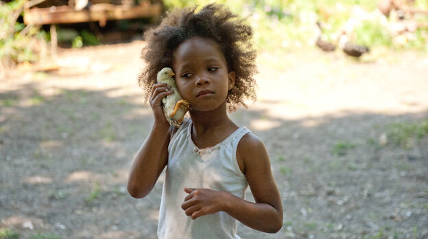 """Hatching A Star: The tenacious Hushpuppy, of Benh Zeitlin's Beasts of the Southern Wild, is played by the equally fearless Quvenzhane Wallis, who was plucked for the role from a Louisiana elementary school. """"It was an absolute miracle that we found her,"""" Zeitlin says."""