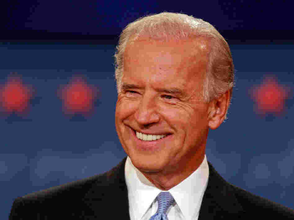 Then-Sen. Joe Biden took part in an October 2008 vice presidential debate in St. Louis.