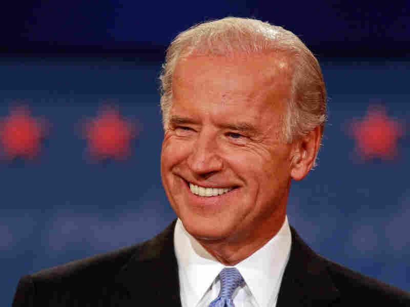 Then-Sen. Joe Biden took part in an October 2008 vice presidential debate in St. Louis.